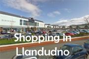 Click for shopping in Llandudno